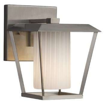 Shown in Brushed Nickel finish with Ribbon Shade