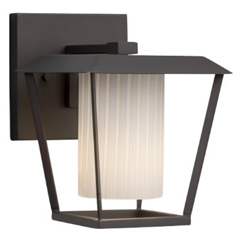 Shown in Matte Black finish with Ribbon Shade