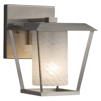 Shown in Brushed Nickel finish with Weave Shade