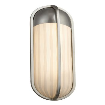 Shown in Waterfall, Brushed Nickel finish, Small size