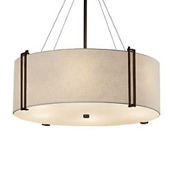 Textile Reveal Large 8 Light Drum Pendant