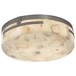 "Alabaster Rocks! Atlas 14"" LED Round Flushmount"