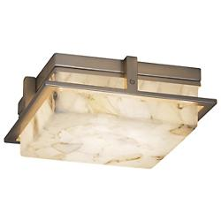 Alabaster Rocks! Avalon Small LED Outdoor/Indoor Flushmount