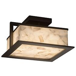 Alabaster Rocks! Laguna LED Outdoor Flushmount