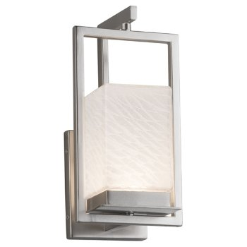 Shown in Brushed Nickel finish, Weave