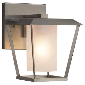 Shown in Brushed Nickel finish, Frosted Crackle