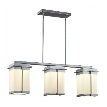 Shown in Opal Shade, Brushed Nickel finish