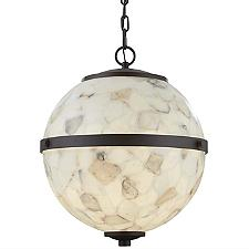 Alabaster Rocks Imperial Hanging Globe Pendant Light