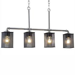Wire Mesh Bronx 4-Light Linear Suspension