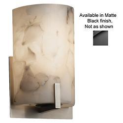 Alabaster Rocks! Century Wall Sconce (Black)-OPEN BOX RETURN