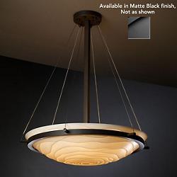 Porcelina Bowl Suspension (Waves/Matte Black/18 In)-OPEN BOX