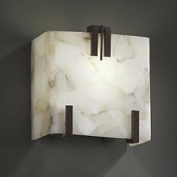 Alabaster Rocks! Clips Bath Sconce (Triple)