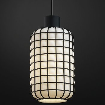 Shown in Matte Black finish, Grid with Opal
