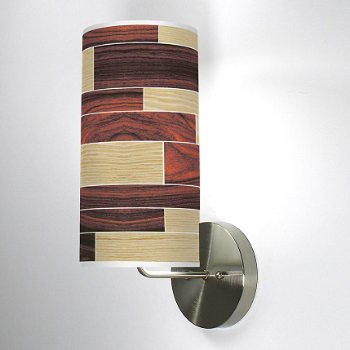 Shown in Oak and Rosewood shade