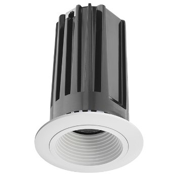 Shown in White baffle with White trim