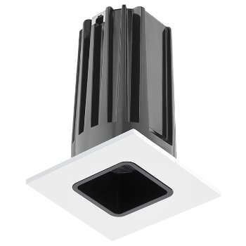 Shown in Black baffle with White trim