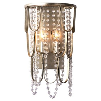 Shown in Champagne Silver Leaf finish, lit