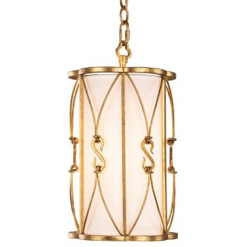 Shown in Oxidized Gold Leaf finish, lit