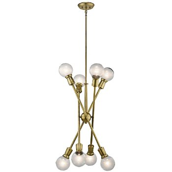 Shown in Natural Brass finish, 8 Light