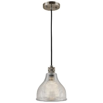 Shown in Classic Pewter with Clear Prismatic glass