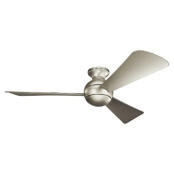 Shown in Brushed Nickel with Silver blades, 54 inch, Light cap, unlit