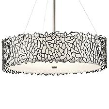 Silver Coral 4 Light Chandelier