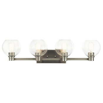 Shown in Brushed Nickel finish, 4 Light