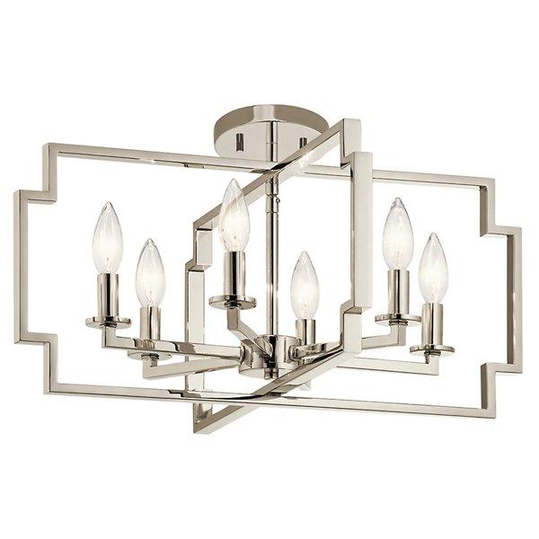 Downtown Deco Light Chandelier/Semi Flush