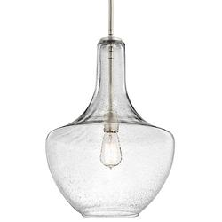 Everly Pendant (Brushed Nickel with Clear Seedy) - OPEN BOX