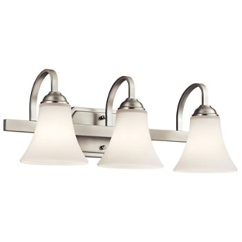 Shown in Brushed Nickel finish with 3 Lights