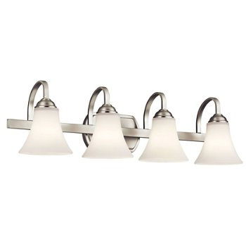 Shown in Brushed Nickel finish with 4 Lights