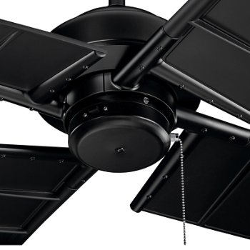 Shown in Satin Black finish, Detail view