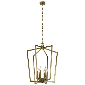 Shown in Natural Brass finish, Large size