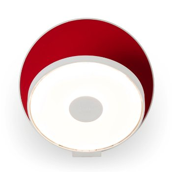 Shown in Matte Red Shade, Matte White Base
