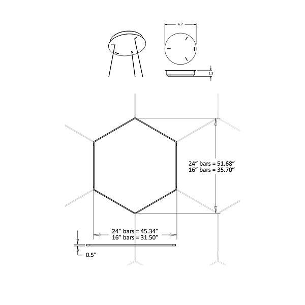 Z-Bar Honeycomb LED Pendant