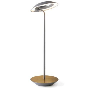 Shown in Silver finish, Brushed Brass base
