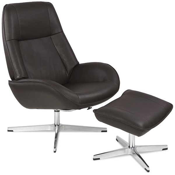 Roma Leather Recliner with Ottoman