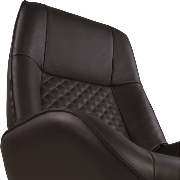 Bordeaux Leather Recliner with Ottoman