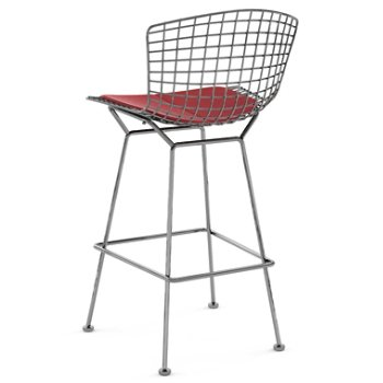 Shown in Vinyl Red with Polished Chrome finish, Bar Height