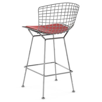 Shown in Vinyl Red with Polished Chrome finish, Counter Height