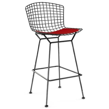 Shown in Cato Fire Red with Satin Chrome finish, Bar Height