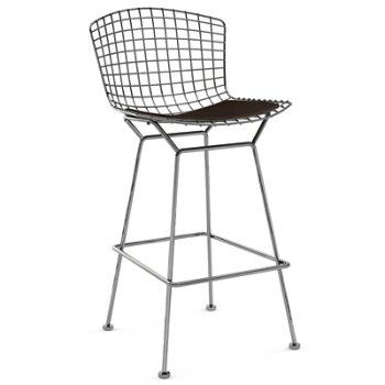 Shown in Cato Brown with Polished Chrome finish, Bar Height