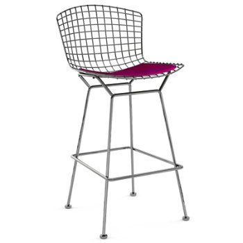 Shown in Cato Hot Pink with Polished Chrome finish, Bar Height