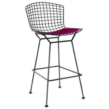 Shown in Cato Hot Pink with Satin Chrome finish, Bar Height