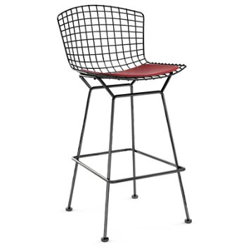 Shown in Vinyl Red with Satin Chrome finish, Bar Height