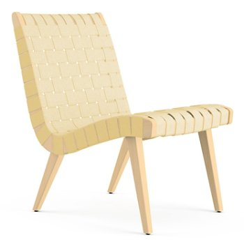 Shown in Maize Cotton Webbing fabric with Maple frame finish