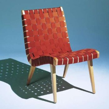 Shown in Nutmeg Cotton/Nylon Webbing fabric with Maple frame finish