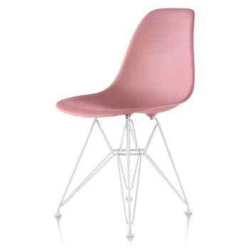 Shown in Blush seat color with Wire Base/White