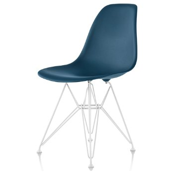 Shown in Peacock Blue seat color with Wire Base/White