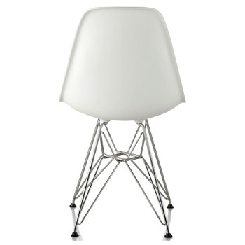 Shown in White seat color with Wire Base/Trivalent Chrome